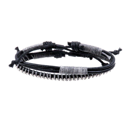 Picture of Bracelets - Leather (Khaki/Black)