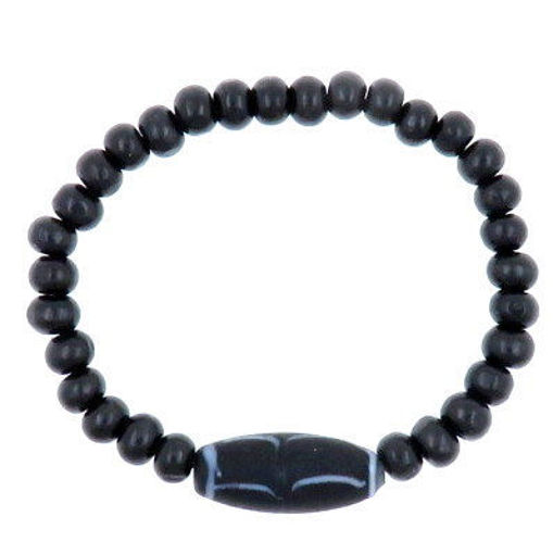 Picture of Bracelet - Glass/Wood (Black)