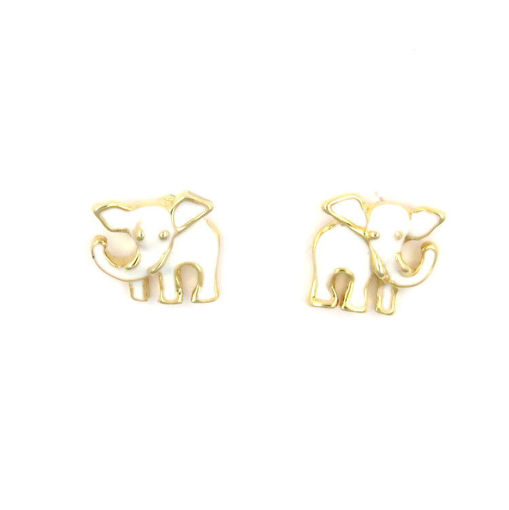 Picture of Children's Earrings - Stud (Elephant)