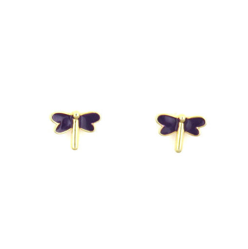 Picture of Children's Earrings - Stud (Dragonfly)