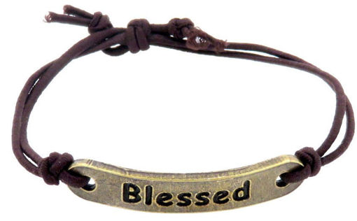 Picture of Bracelet - Blessed (Antique Brass)