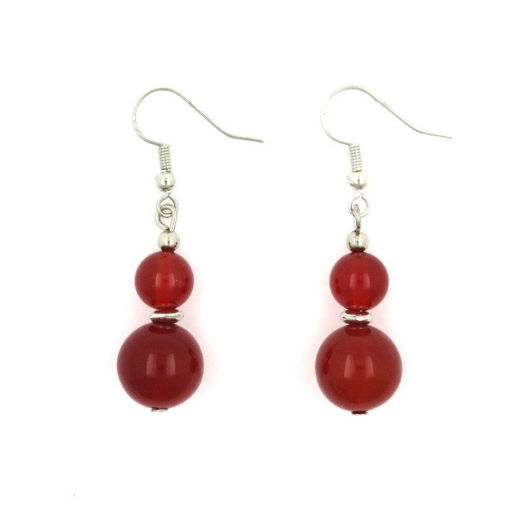 Picture of Earrings - Stone (Carnelian)