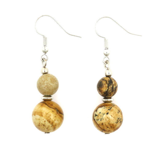 Picture of Earrings - Stone (Picture Jasper)