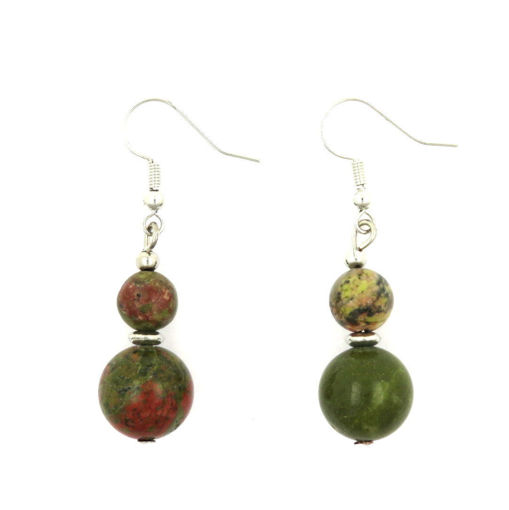 Picture of Earrings - Stone (Unakite)