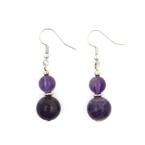 Picture of Earrings - Stone (Amethyst)