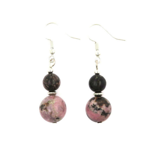 Picture of Earrings - Stone (Rhodonite)