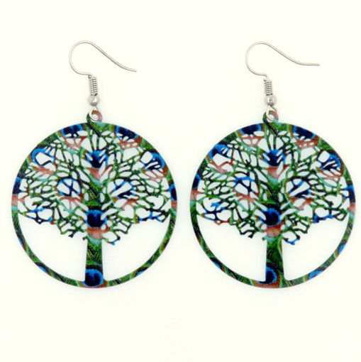 Picture of Earrings - Green Tree