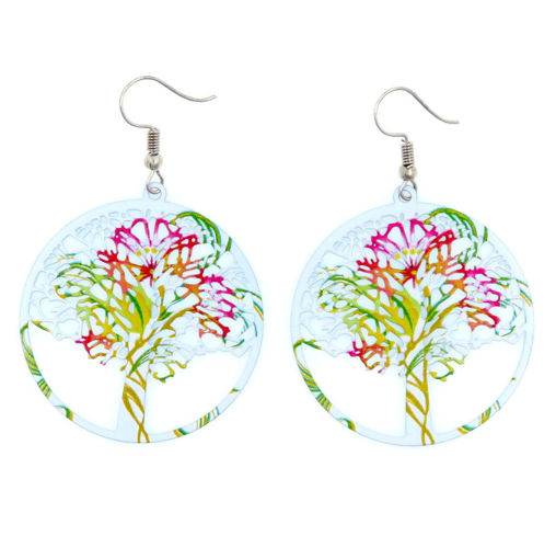 Picture of Earrings - White Tree