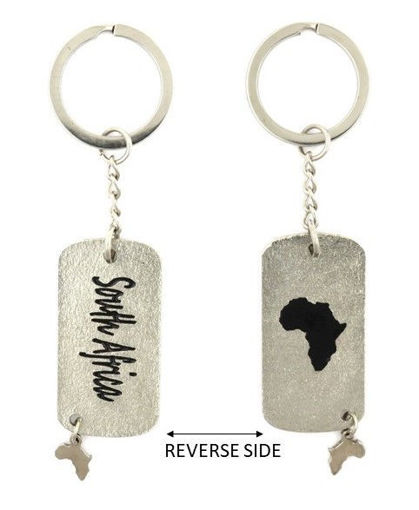 Picture of Key Ring - Double-sided Dog Tag - South Africa