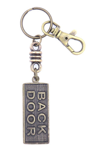 Picture of Key Ring - Name with Clip (BACK DOOR/SA flag)