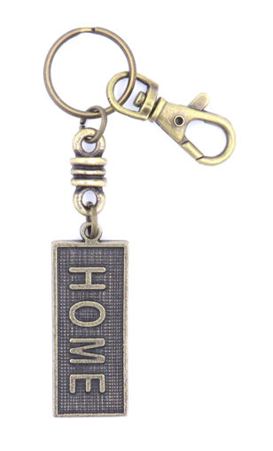 Picture of Key Ring - Name with Clip (HOME/SA flag)