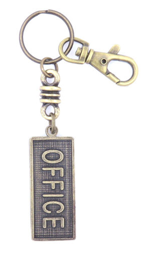 Picture of Key Ring - Name with Clip (OFFICE/SA flag)