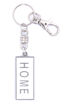 Picture of Key Ring - Name with Clip (HOME/SA flag) Painted WHITE