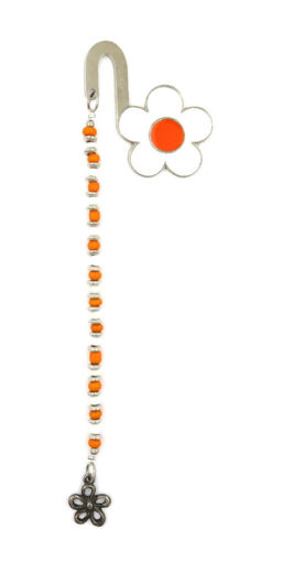 Picture of Bookmark - Daisy (White/Orange)
