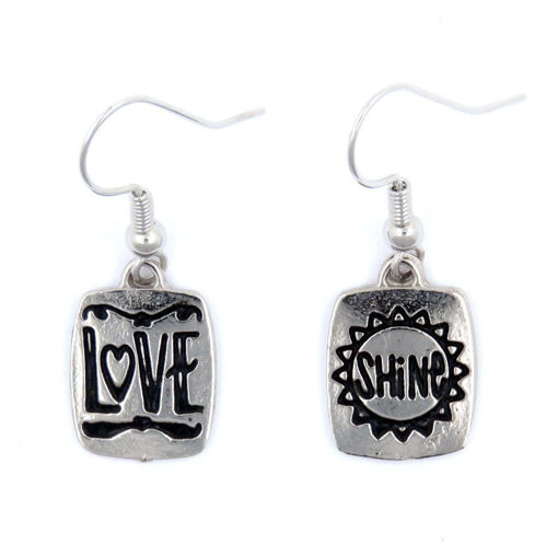 Picture of Earrings - Love / Shine (Antique Nickel)