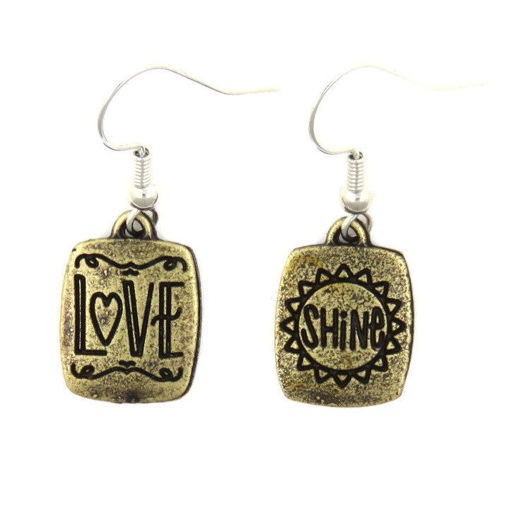 Picture of Earrings - Love / Shine (Antique Brass)