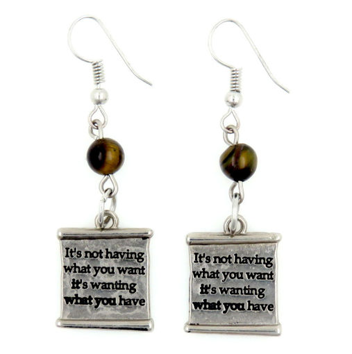 Picture of Earrings - It's Not Having What You Want...