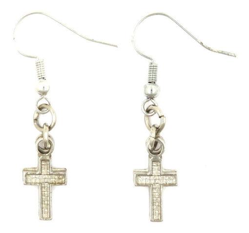 Picture of Earrings - Cross (Plain)