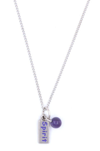 Picture of Necklace - Purple Painted Spirit with Amethyst Stone on Chain