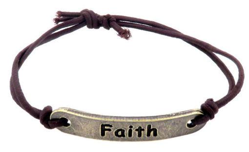 Picture of Bracelet - Faith (Antique Brass)