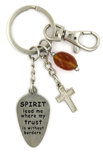 Picture of Key Ring - Amber Glass Spirit