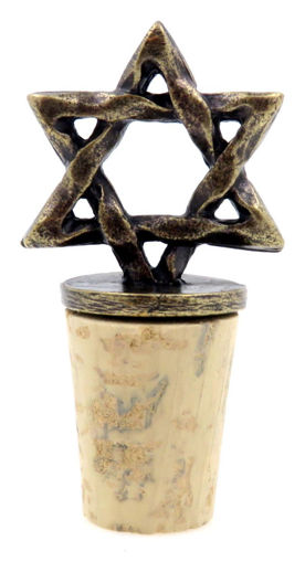 Picture of Bottle Stopper - Star of David (Antique Brass)