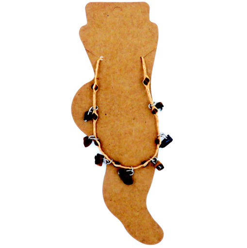 Picture of Anklet - Rafia / Tigers Eye
