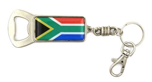 Picture of Key Ring / Bottle Opener - SA flag